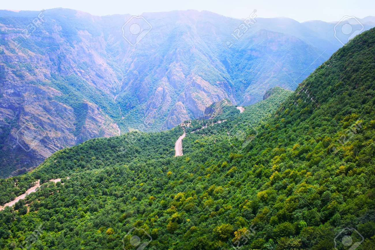 Landscape View Fron Altitude In Armenia. Stock Photo, Picture And ...