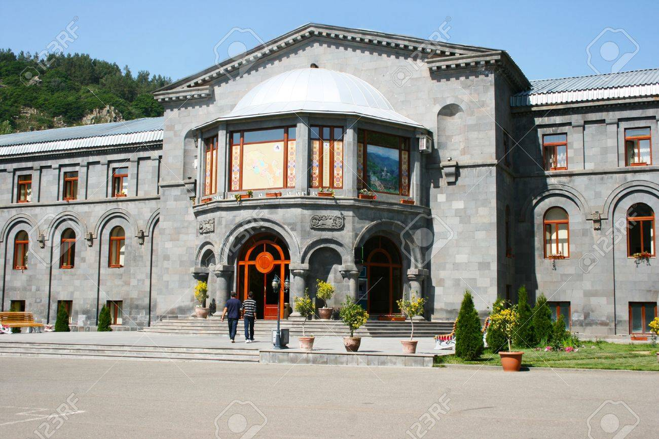 Old building in Jermuk city, Armenia. Stock Photo - 13694059