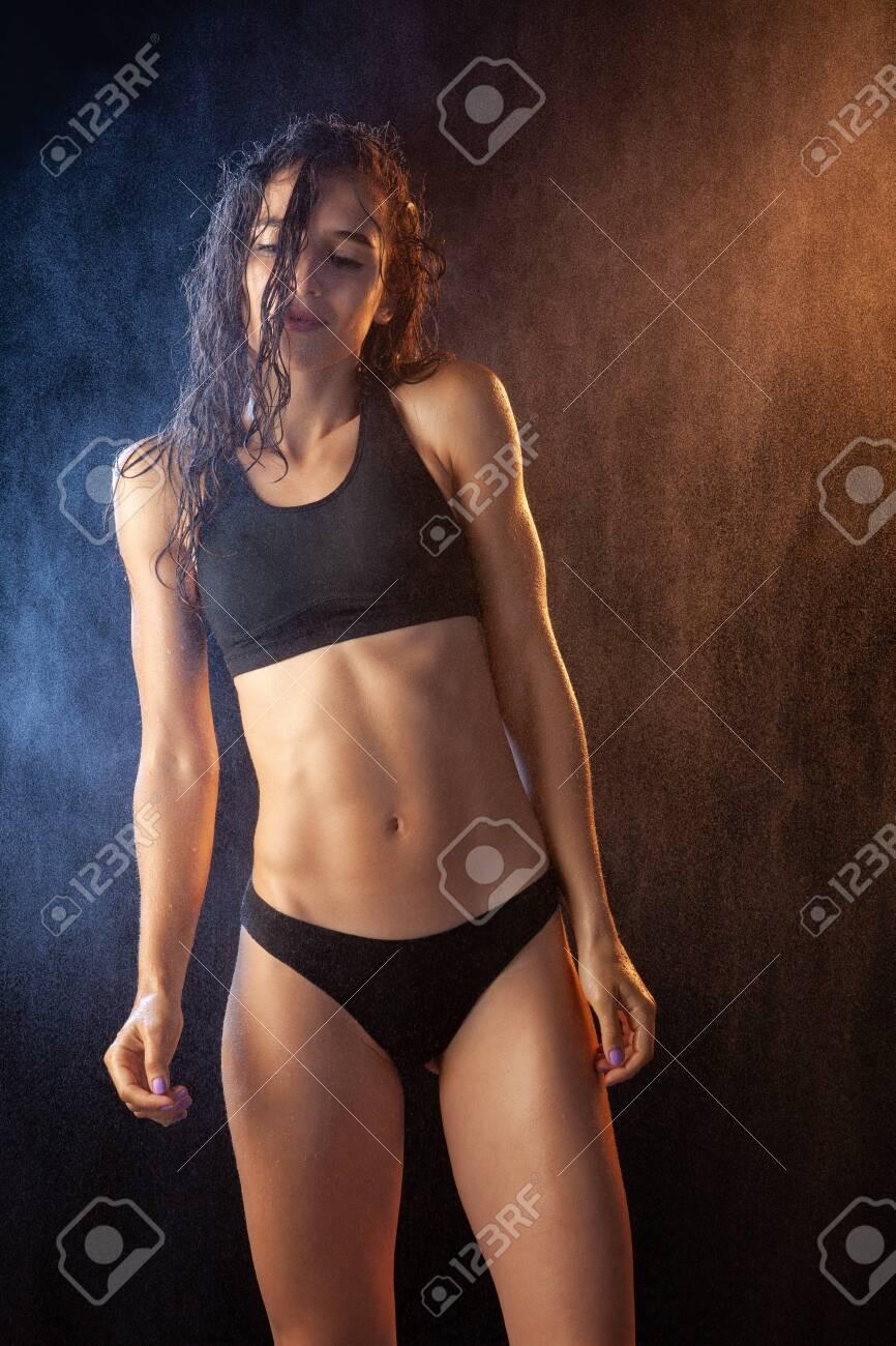 Sexy wet lingerie