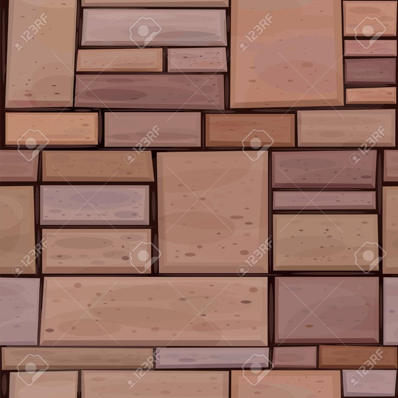 Vector seamless stone's wall. Stock Vector - 7763010