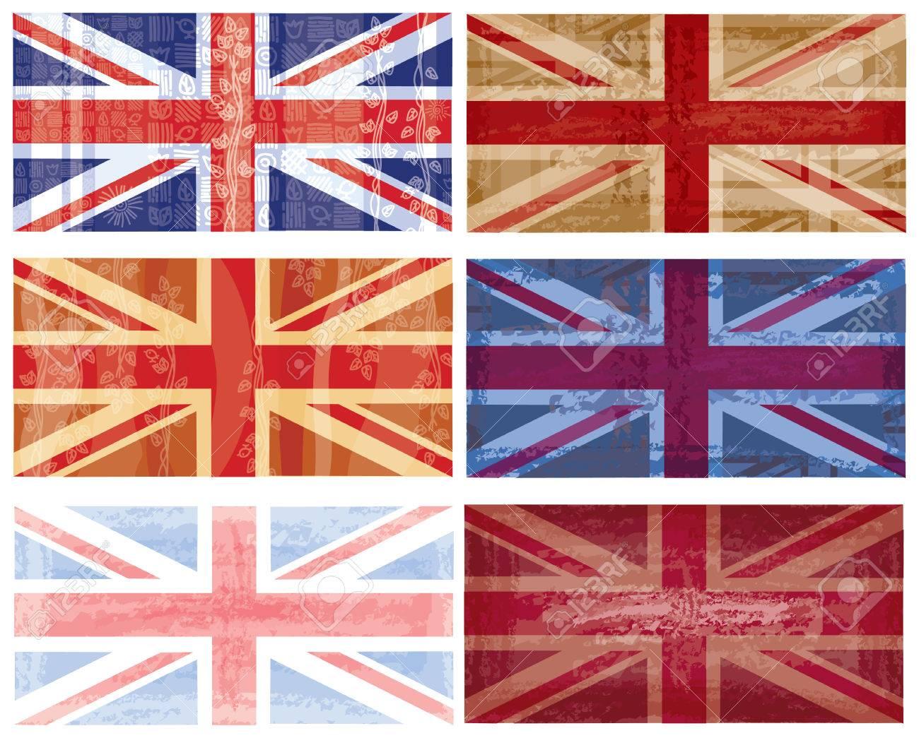 British flag grunge Stock Vector - 8888898