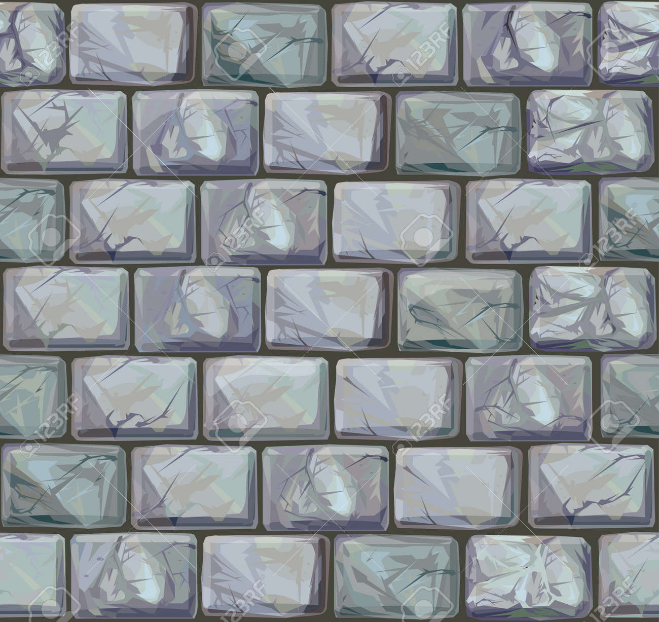 Seamless texture of stones in grey colors. Stock Vector - 10509729