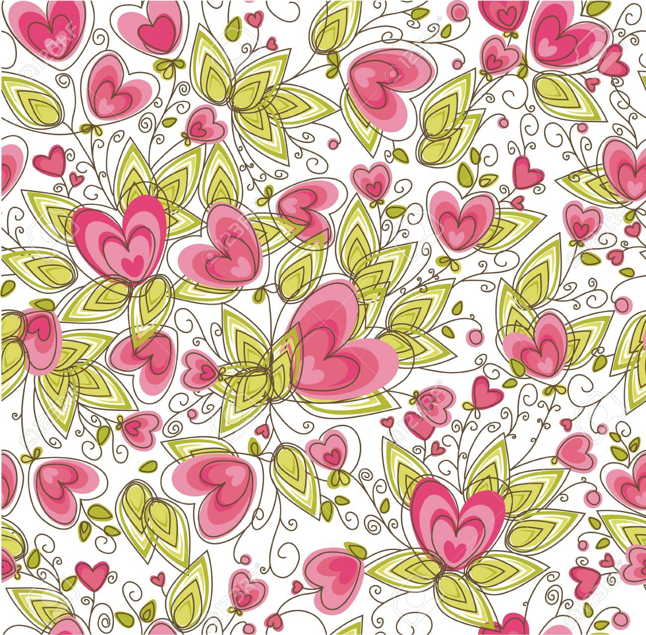 Seamless pattern for Valentine Stock Vector - 12404623