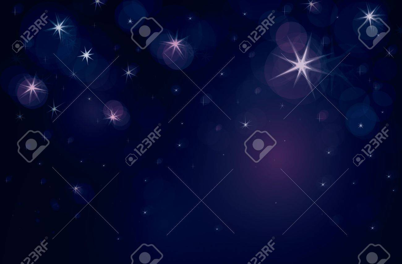 Starry night with lights of stars Stock Vector - 14316723