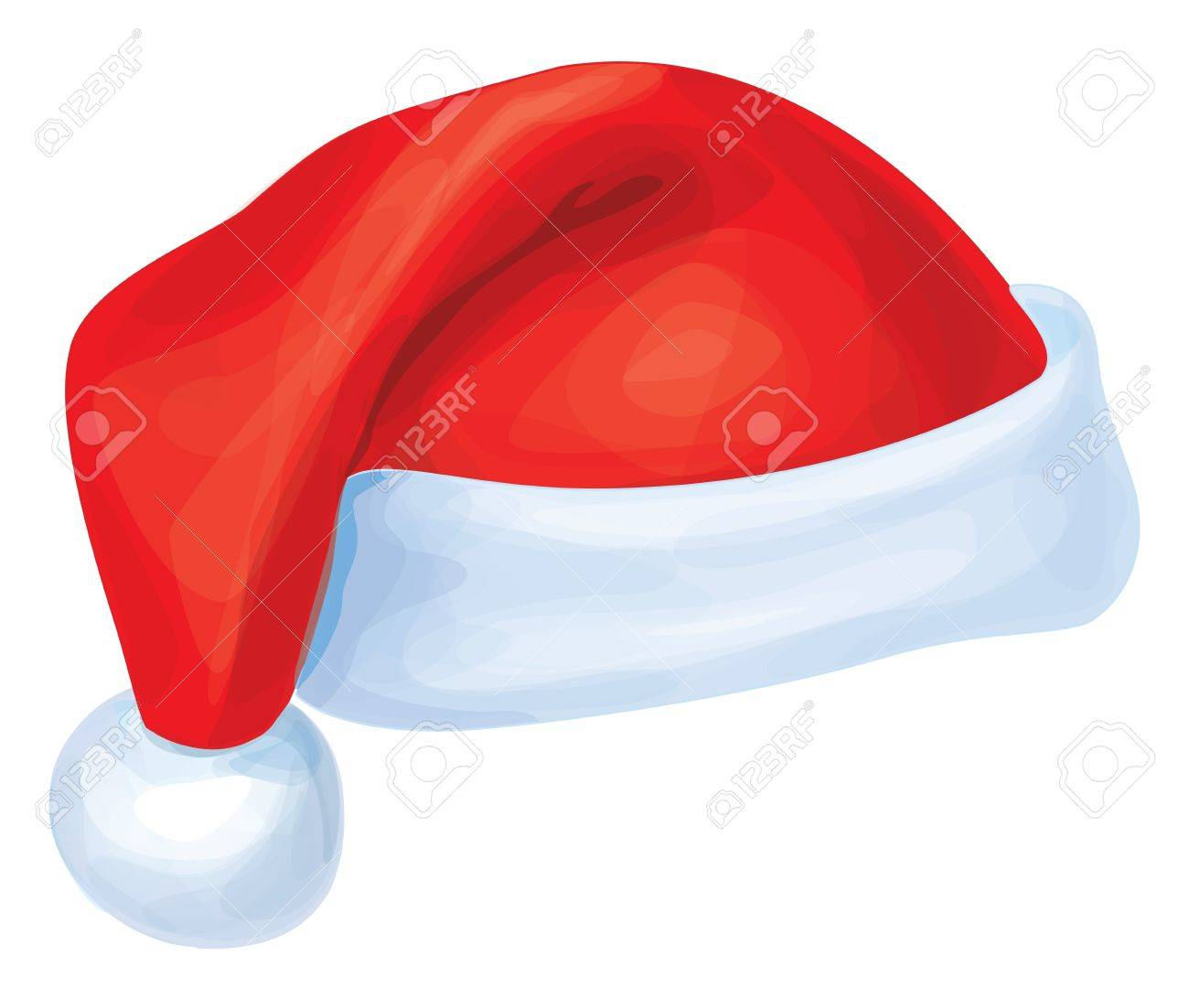 Vector of red Santa Claus hat - 15798947