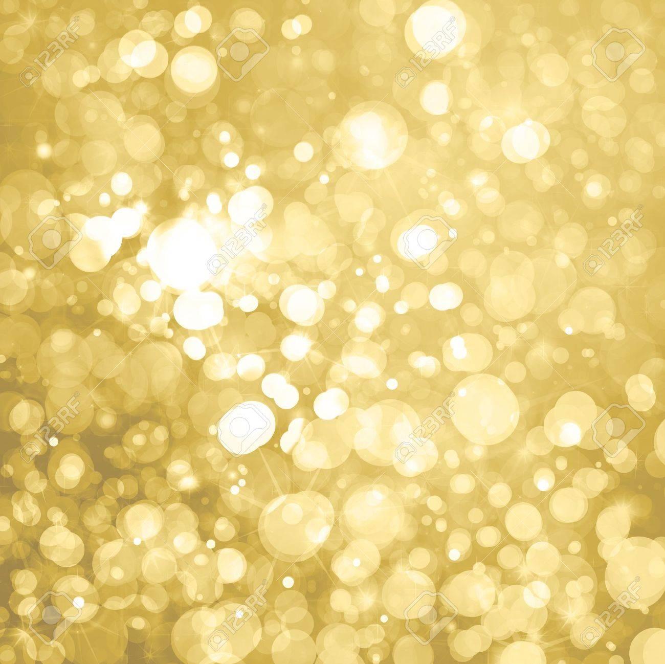 lights on golden background Stock Photo - 15773836