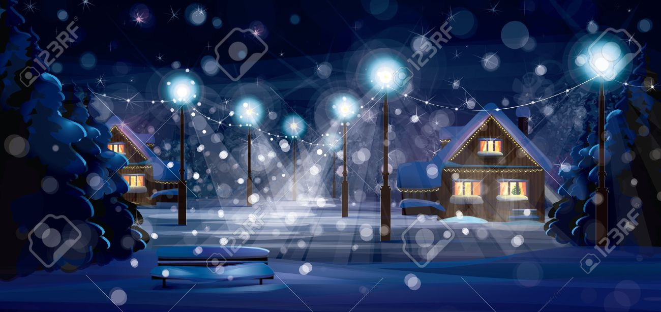 Vector of winter landscape. Merry Christmas! Stock Vector - 20044862