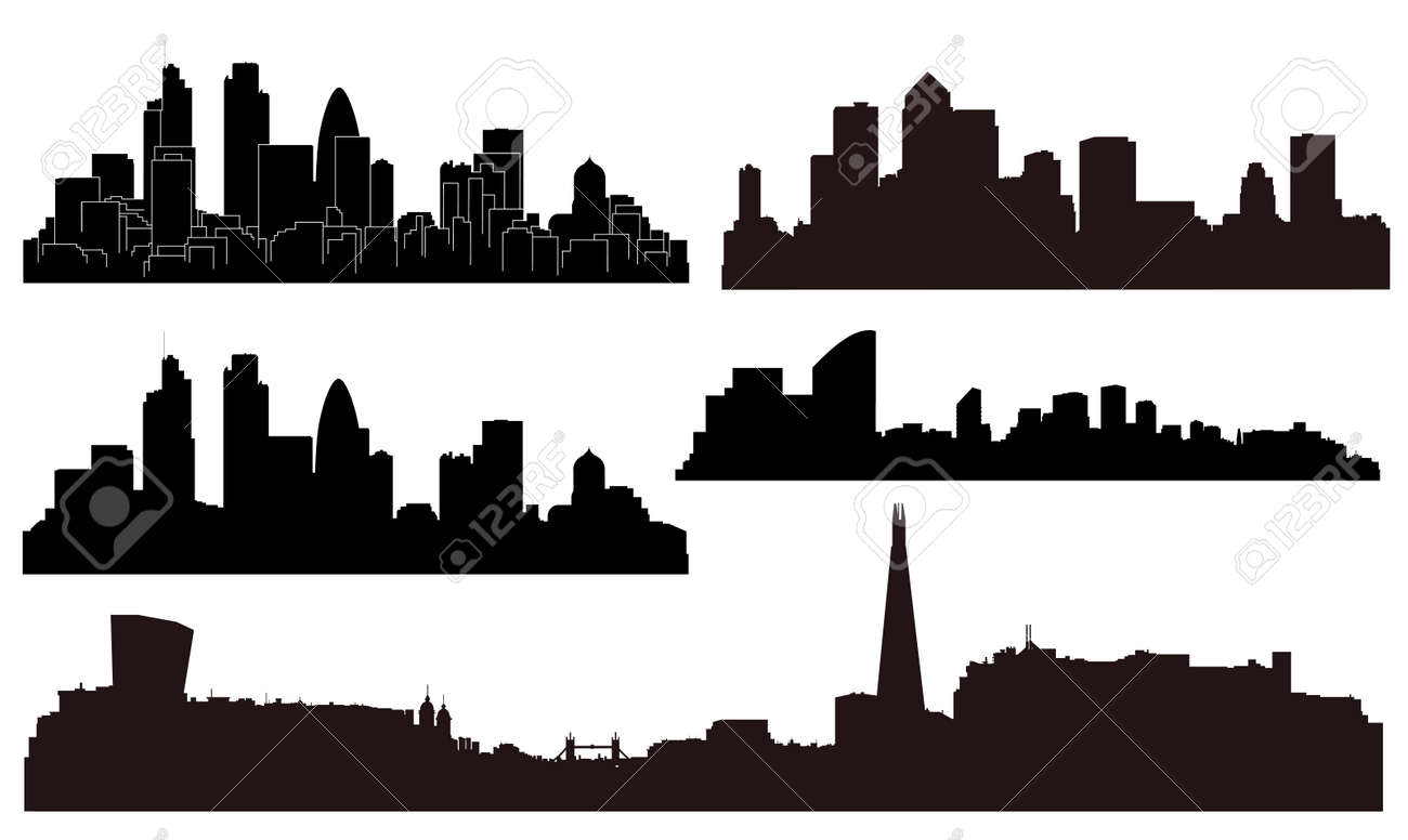 vector london city silhouettes royalty free cliparts vectors and rh 123rf com city building silhouettes vector city silhouette vector download