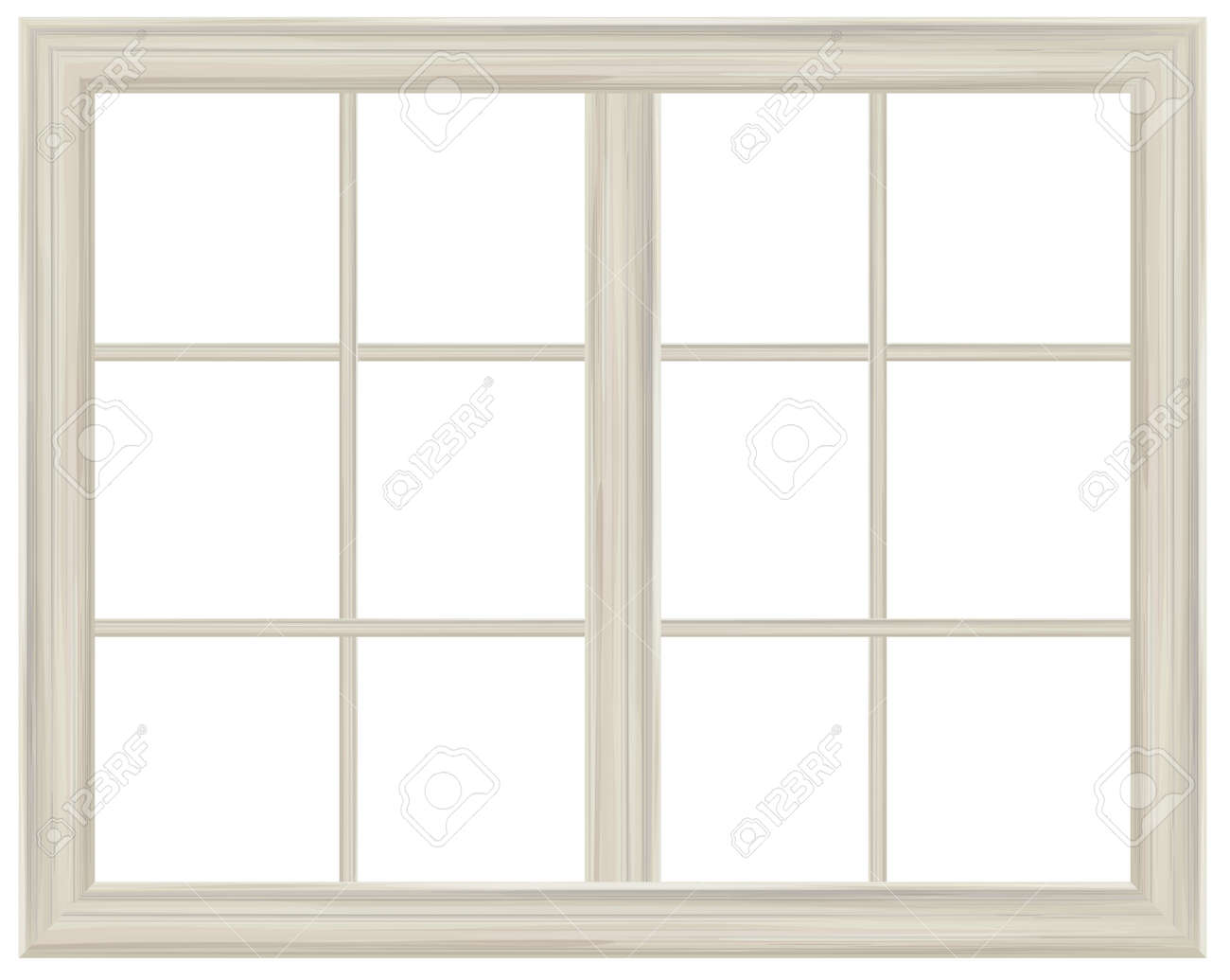 White window frame - Vector Window Frame Isolated Stock Vector 33095975