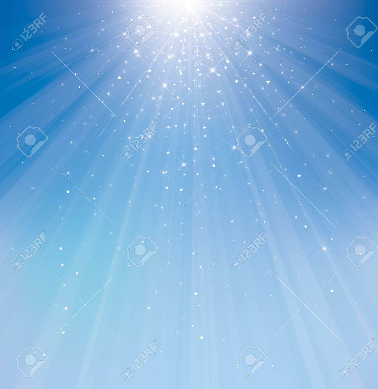 Vector sky sparkle background. - 34576897