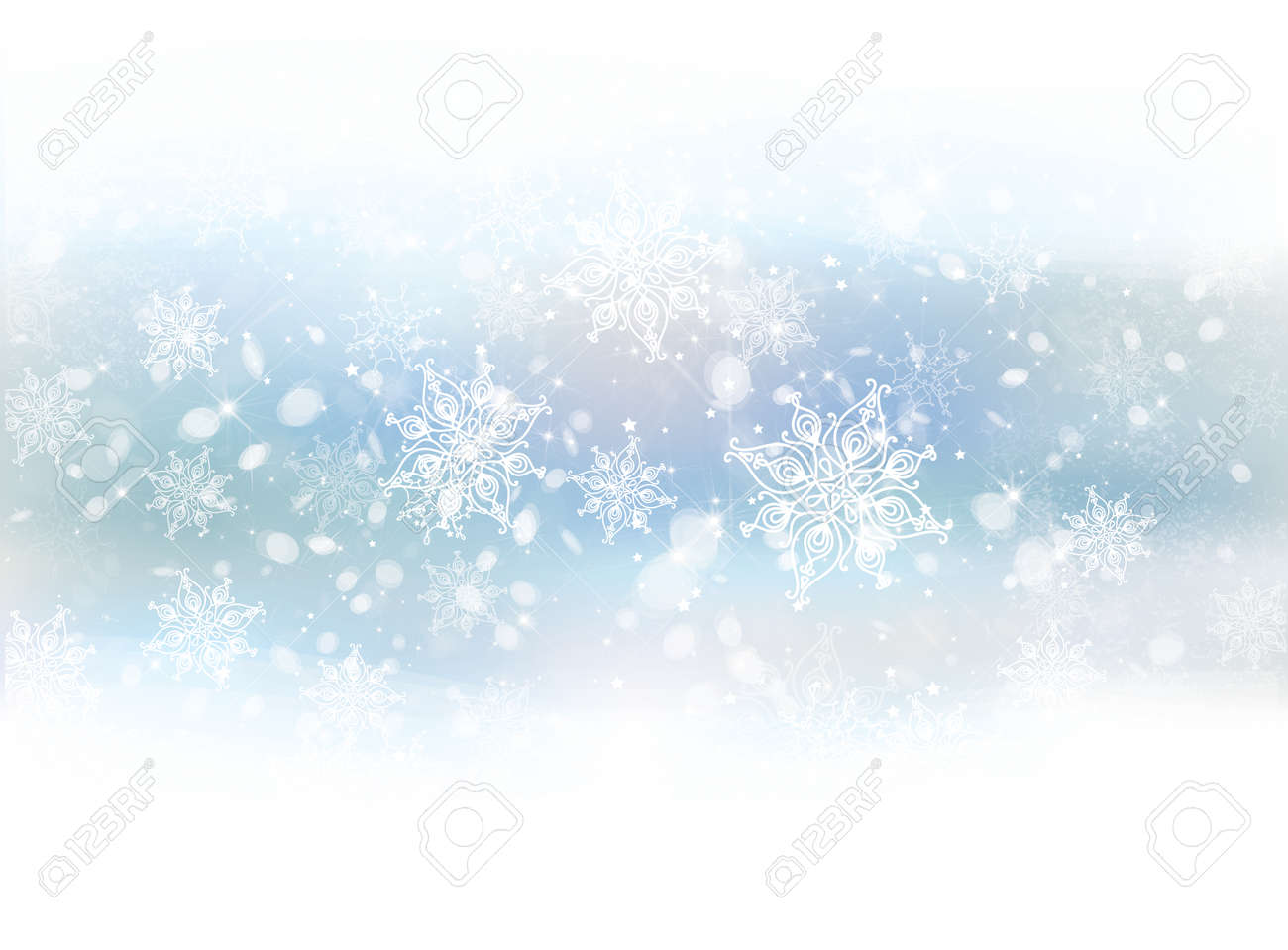 Vector winter snowflakes background. - 38684934