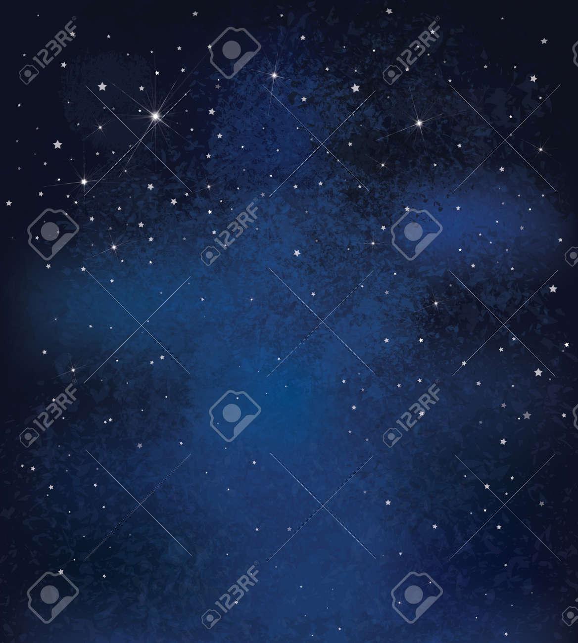 Vector night starry sky background. - 48258307