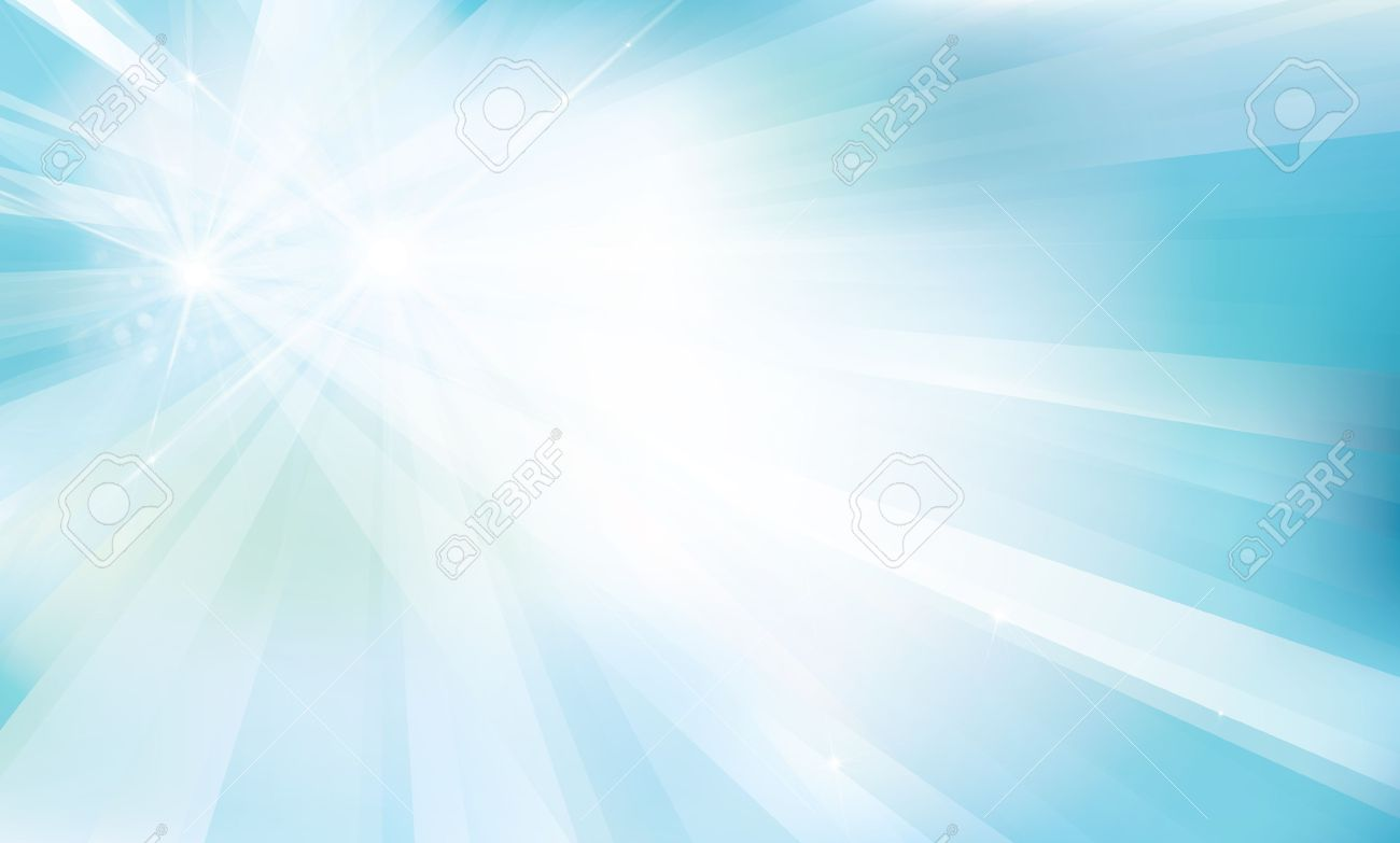 blue background with rays and lights. - 50145415