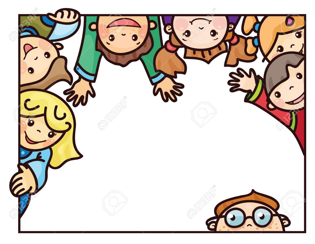 Marco Feliz De Los Niños De Dibujos Animados. Ilustraciones ...