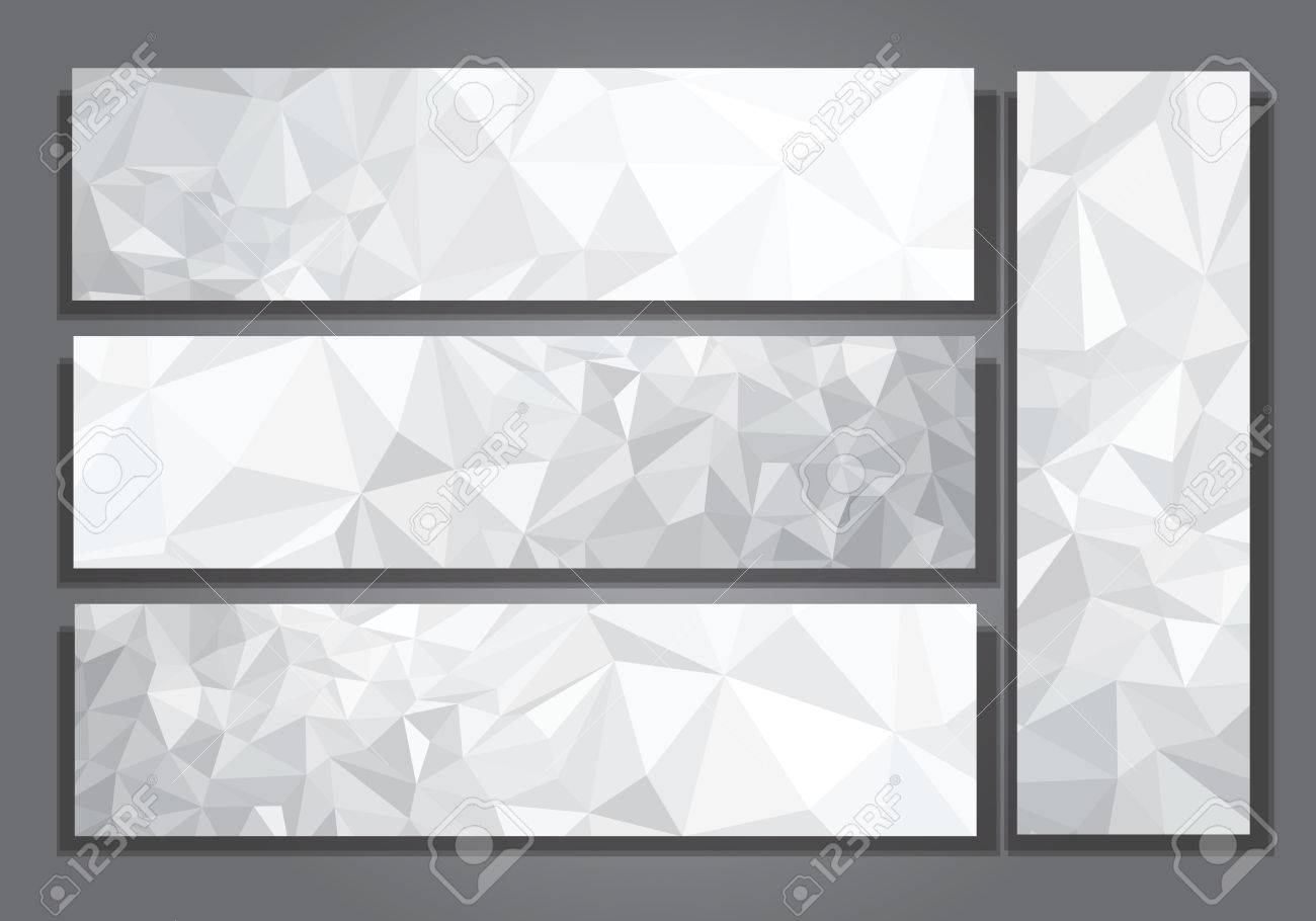 Vector abstract gray, triangles banners. - 53316841