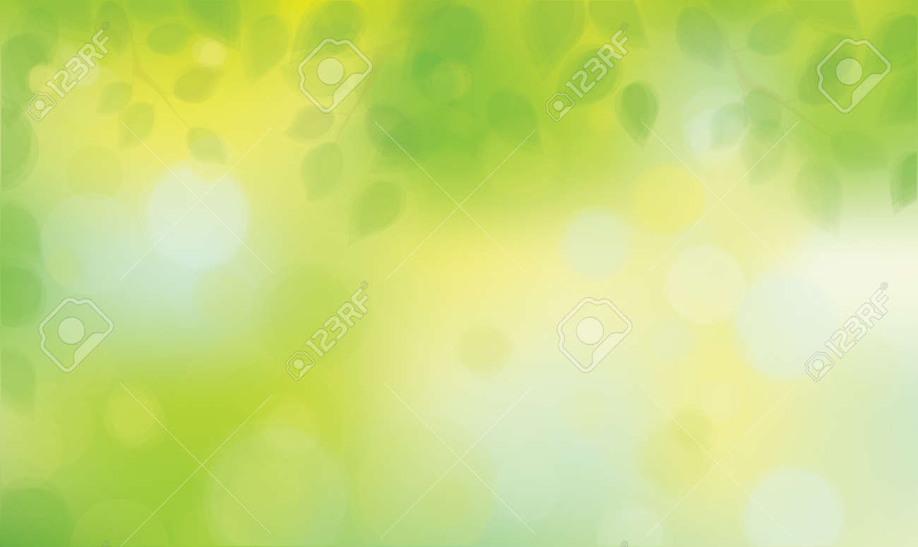 Green leaves on sunshine background. - 53816342