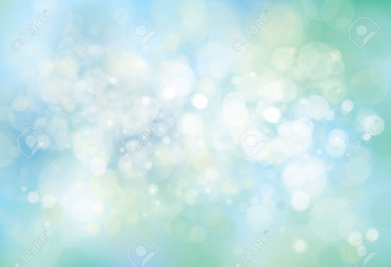 Vector lights, blue, bokeh background. - 53816353