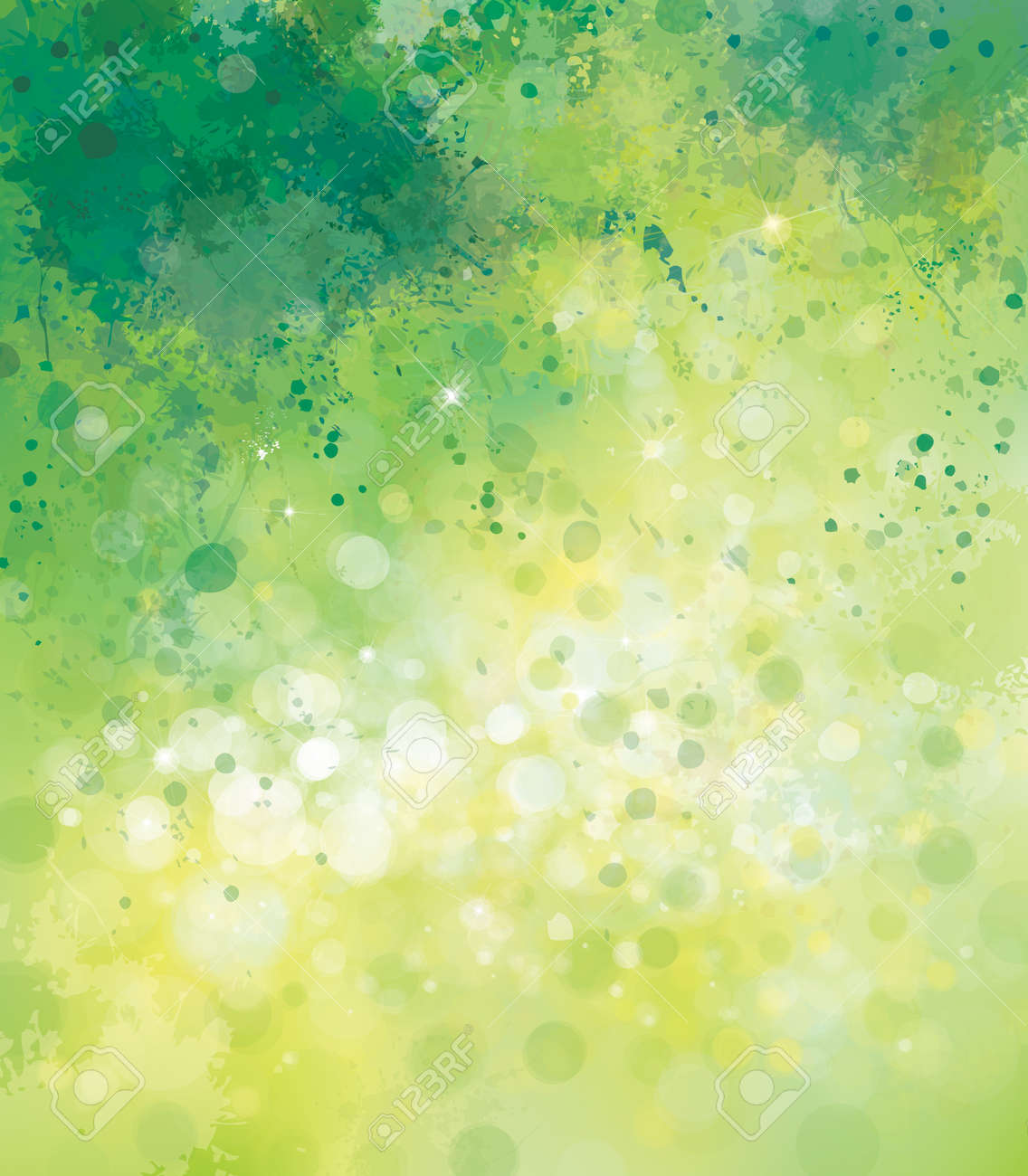 Vector abstract spring background. - 58614548