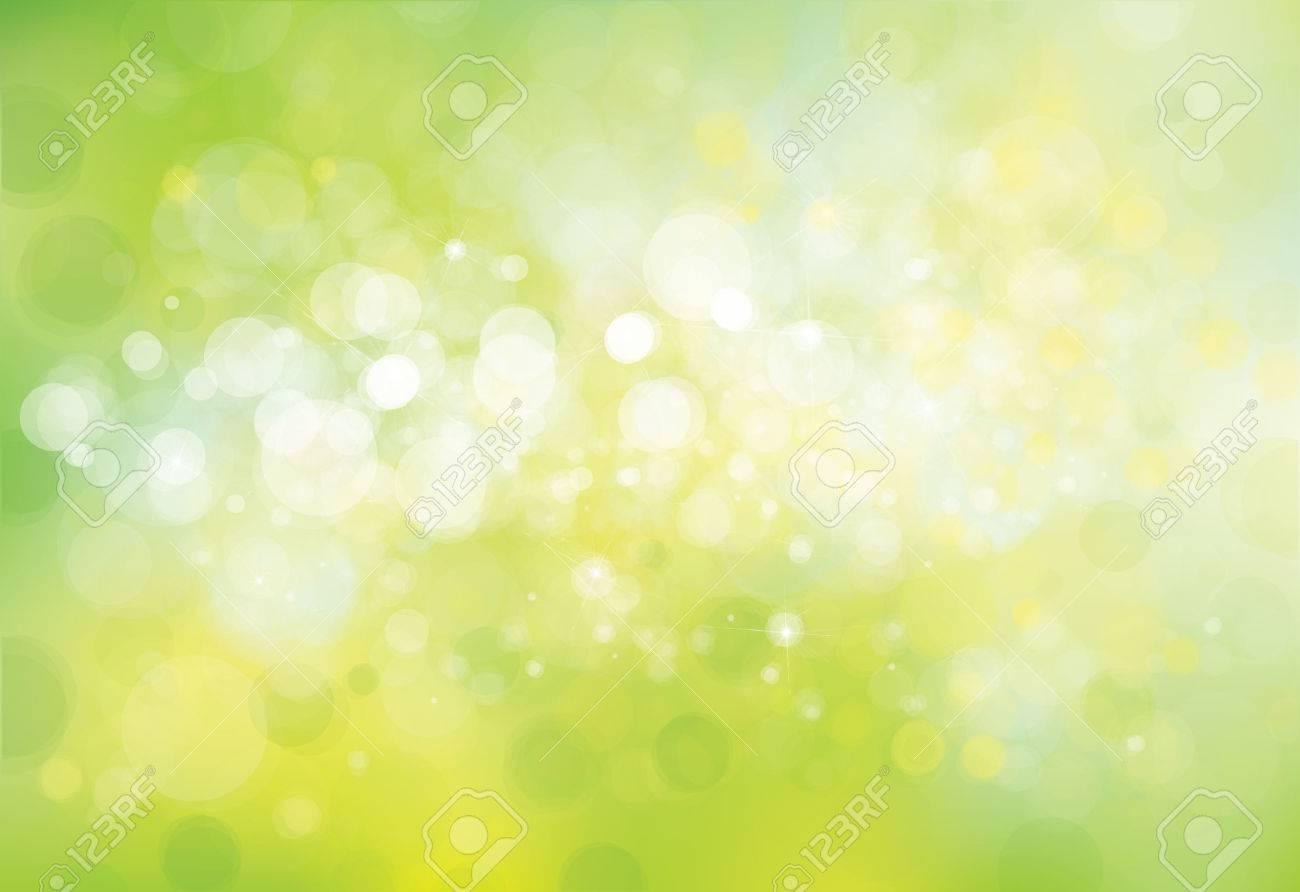 Vector green lights background. - 58614550