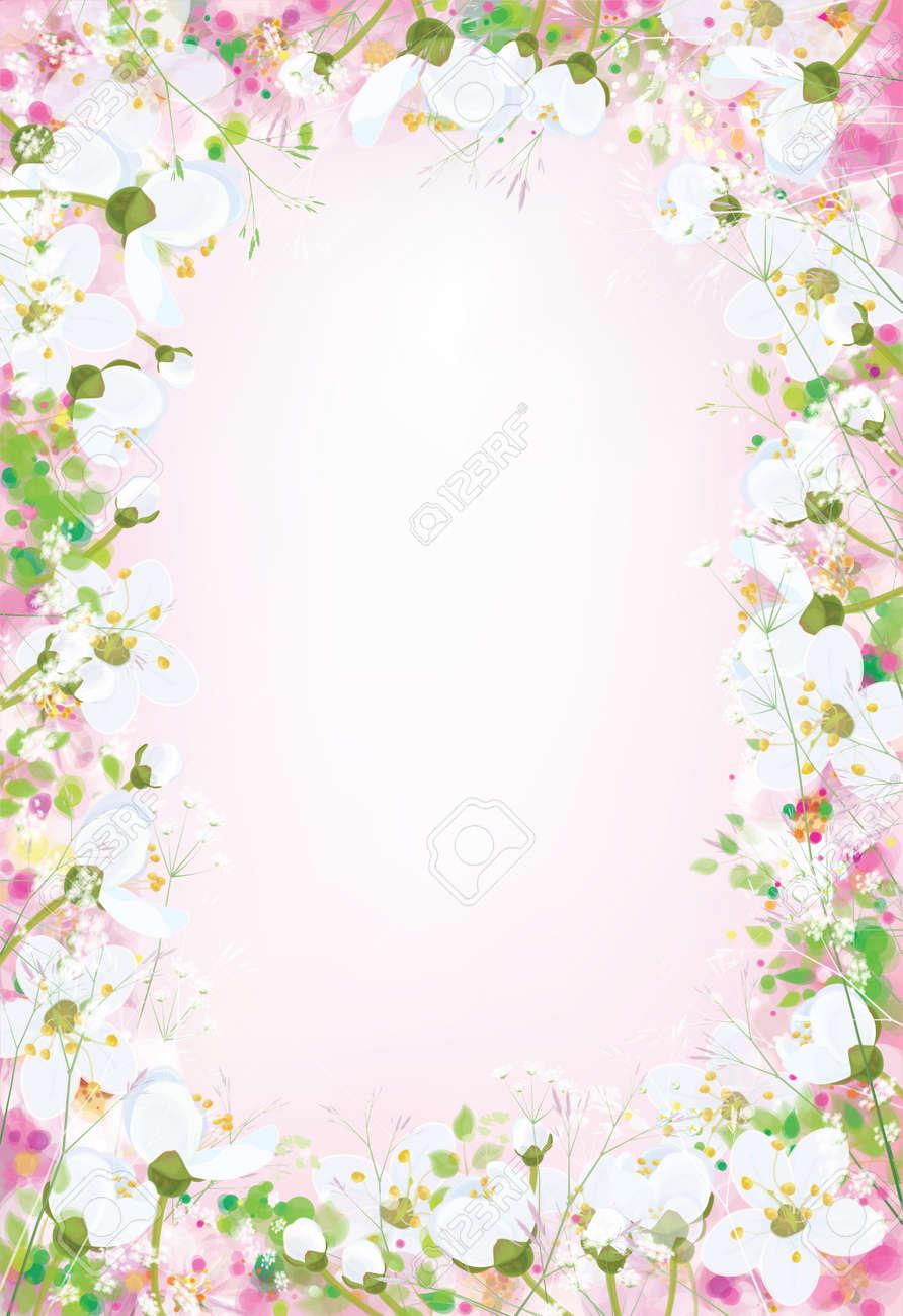 Vector floral background. - 71137632