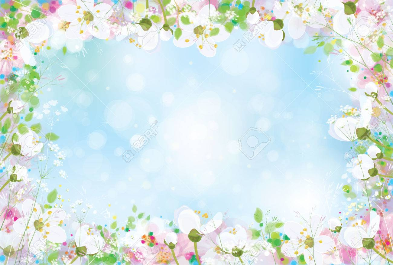 Vector Spring Floral Background Royalty Free Cliparts Vectors