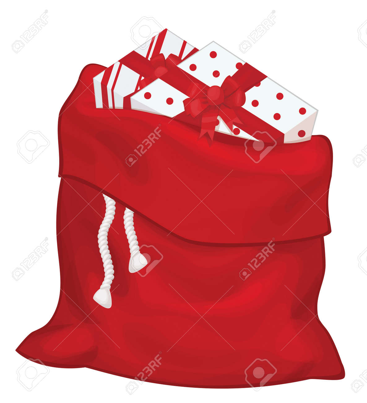 Vector Santa Claus Bag With Gifts Isolated Royalty Free Cliparts Vectors And Stock Illustration Image 85278972