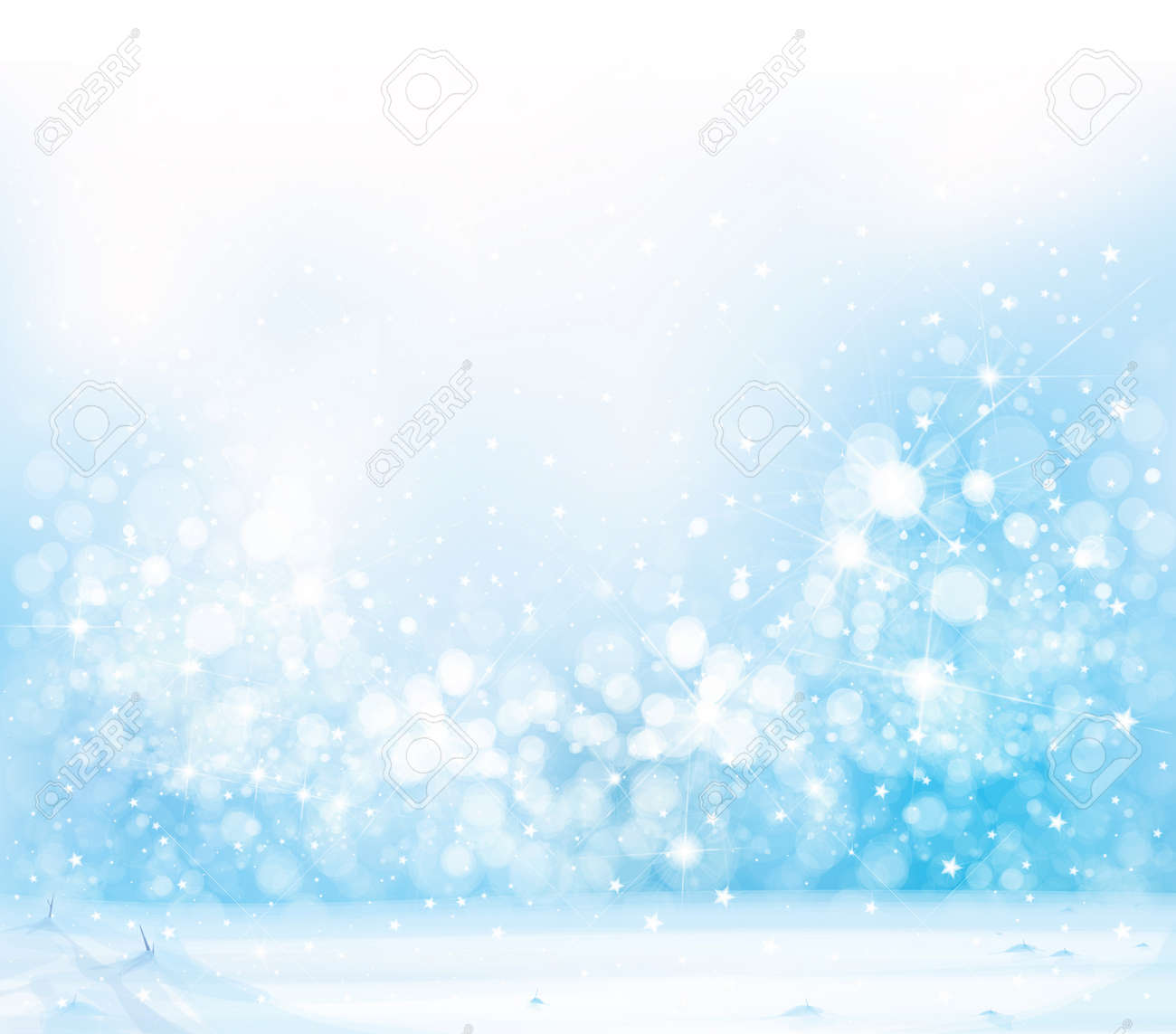 Vector blue, snowy background for Christmas design. Winter background. - 156803240