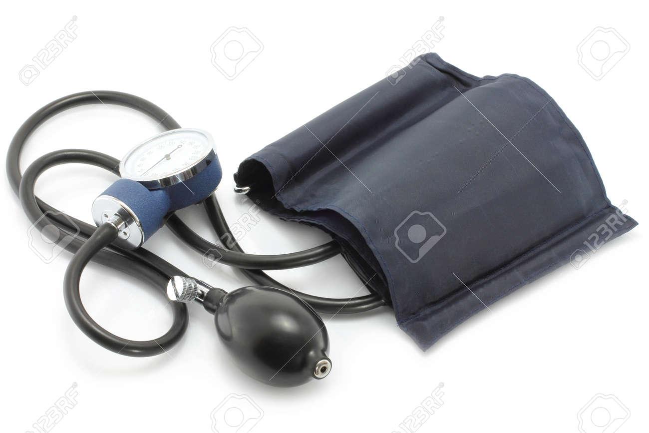 Medical sphygmomanometer on a white background Stock Photo - 11067262