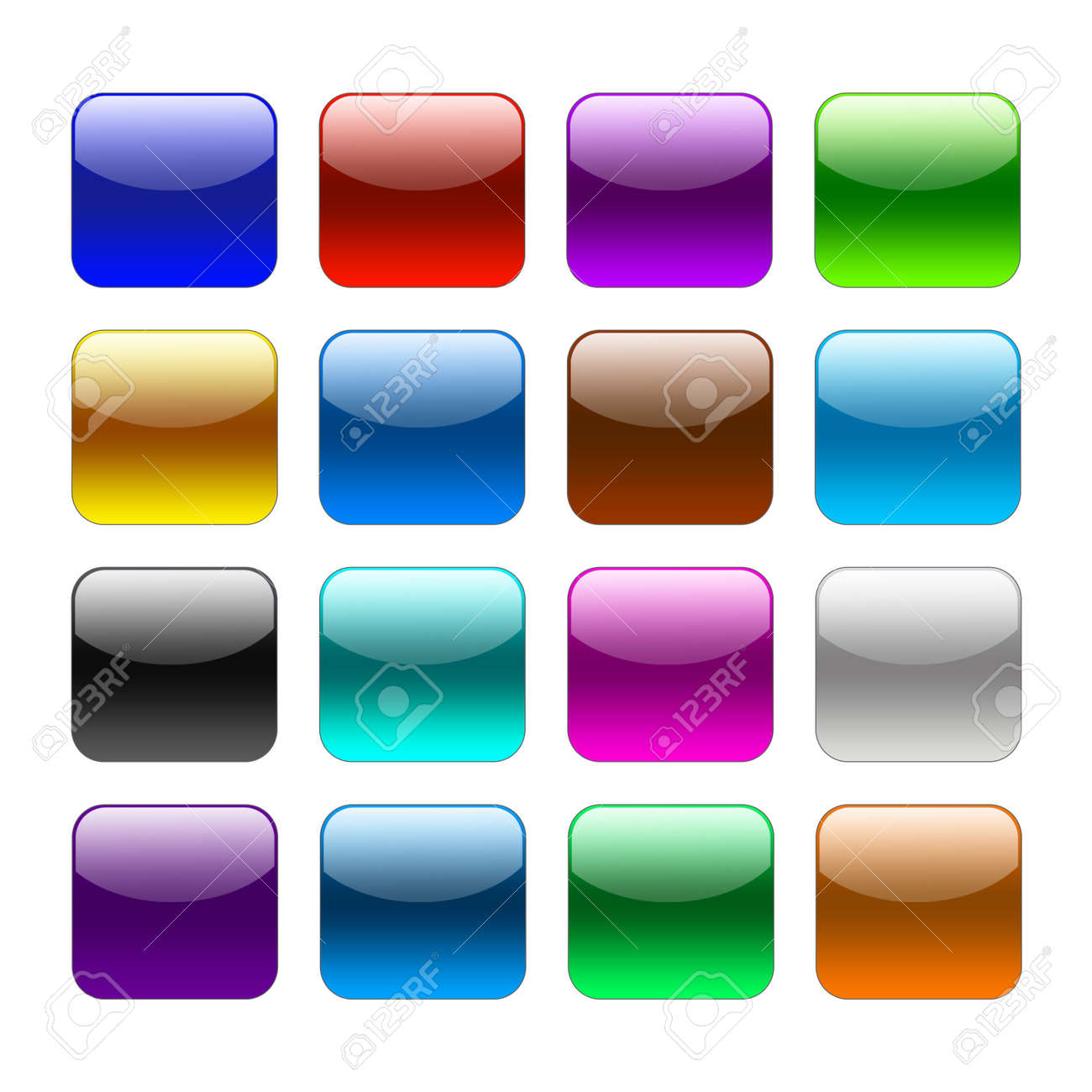 blank colour web buttons on white background stock photo 15124011 - Blank Pictures To Colour