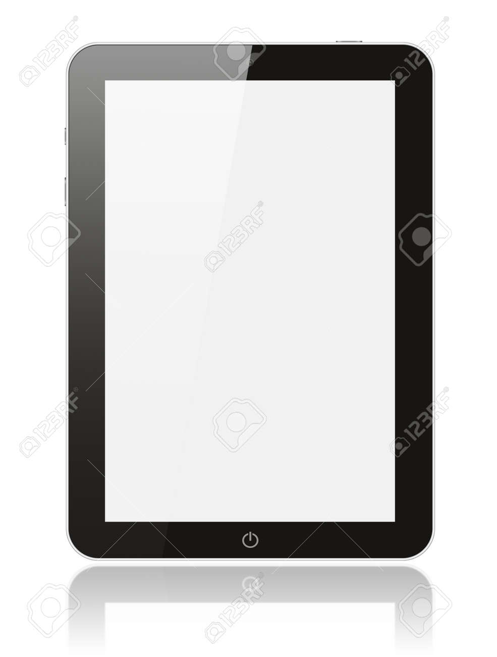 Black digital tablet pc on white background Stock Photo - 16138753