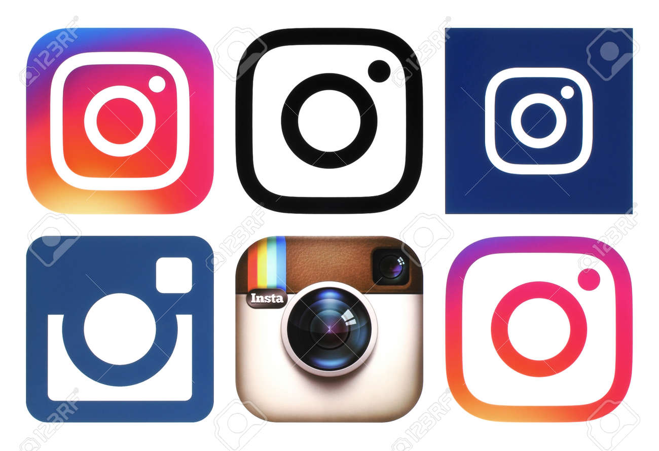 Kiev Ukraine November 25 2016 Instagram Logos Printed On