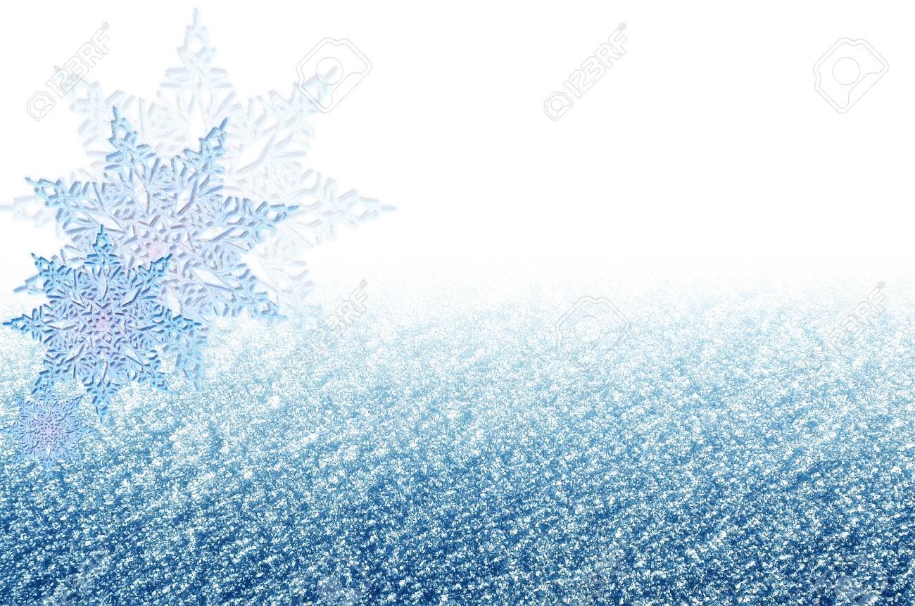 Elegante Weihnachten Blauen Hintergrund Mit Schneeflocken. Neujahr ...