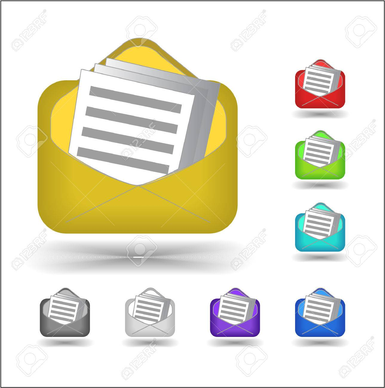 email icons Stock Vector - 5151856