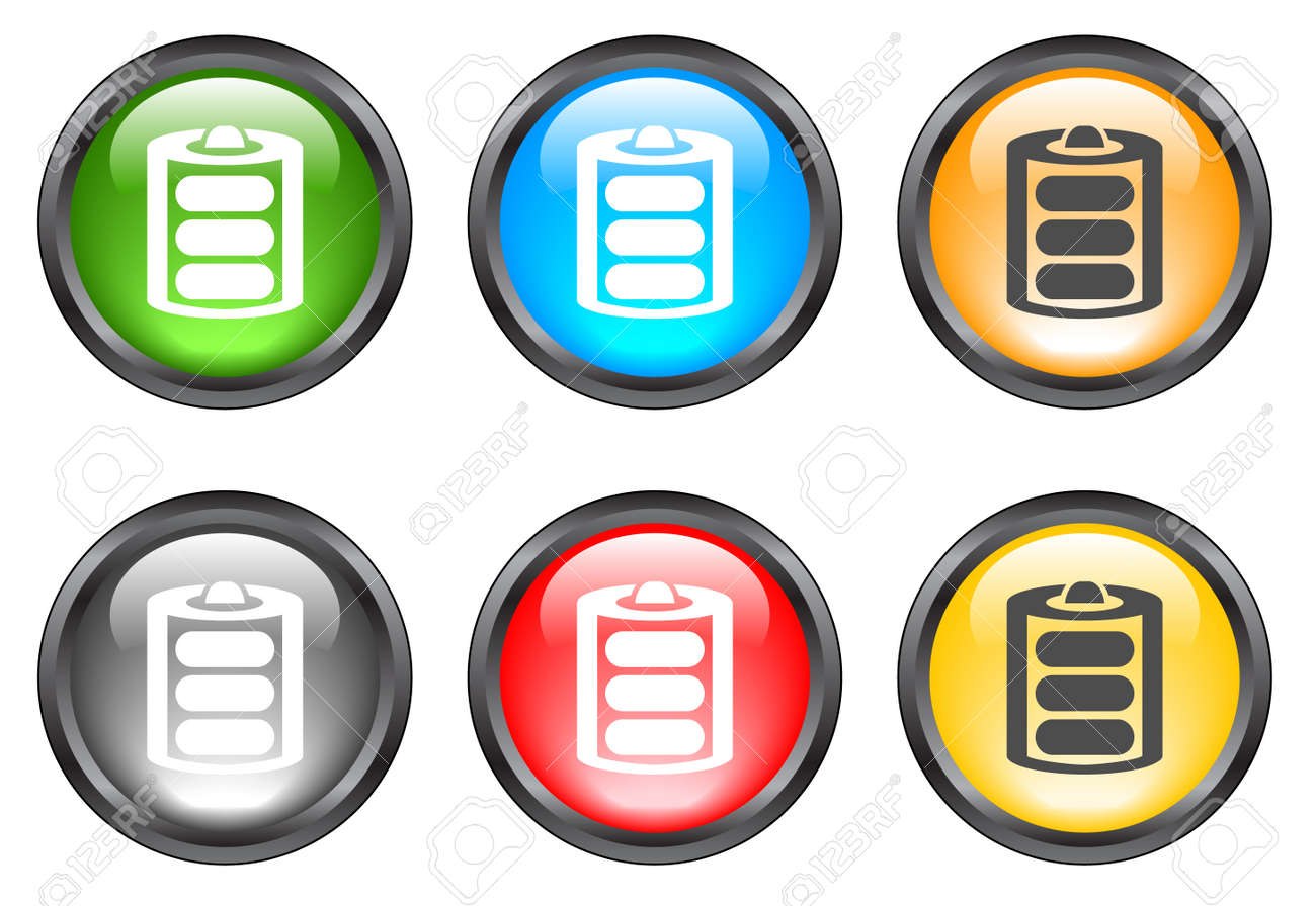Internet shiny buttons. Vector illustration Stock Vector - 5195508