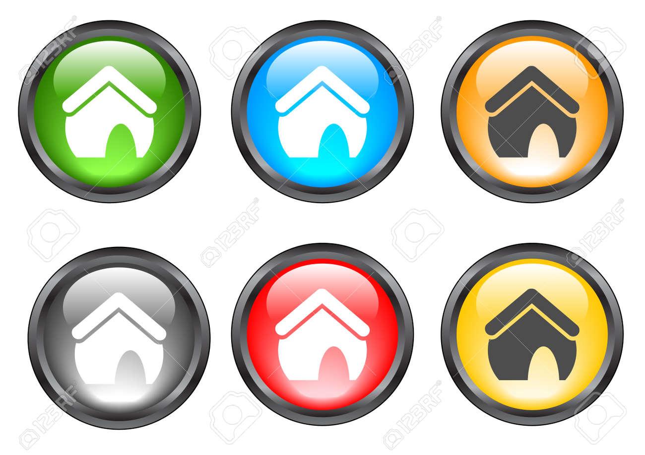Internet shiny buttons. Vector illustration. Stock Vector - 5195307