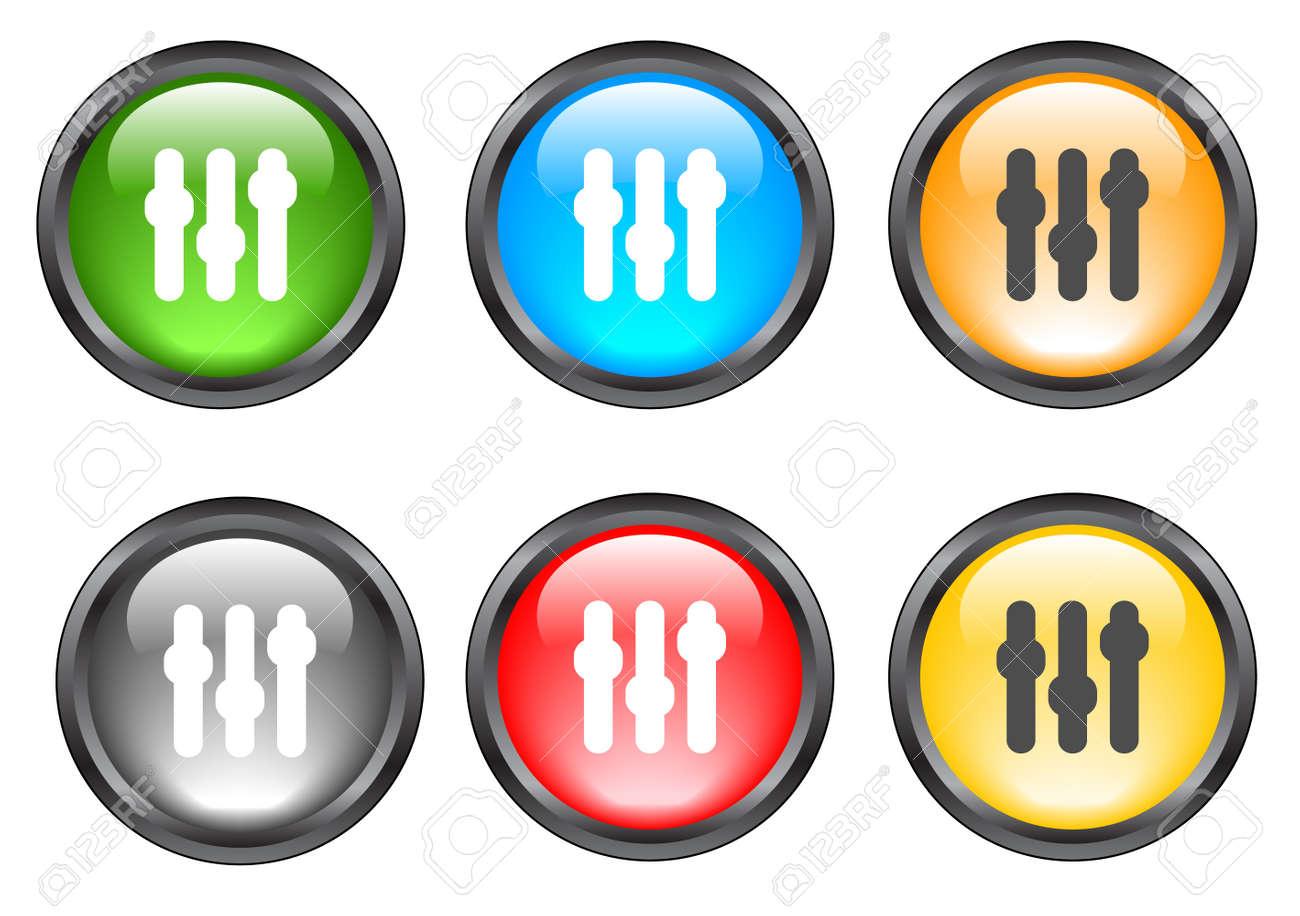 Internet shiny buttons. Vector illustration. Stock Vector - 5195495