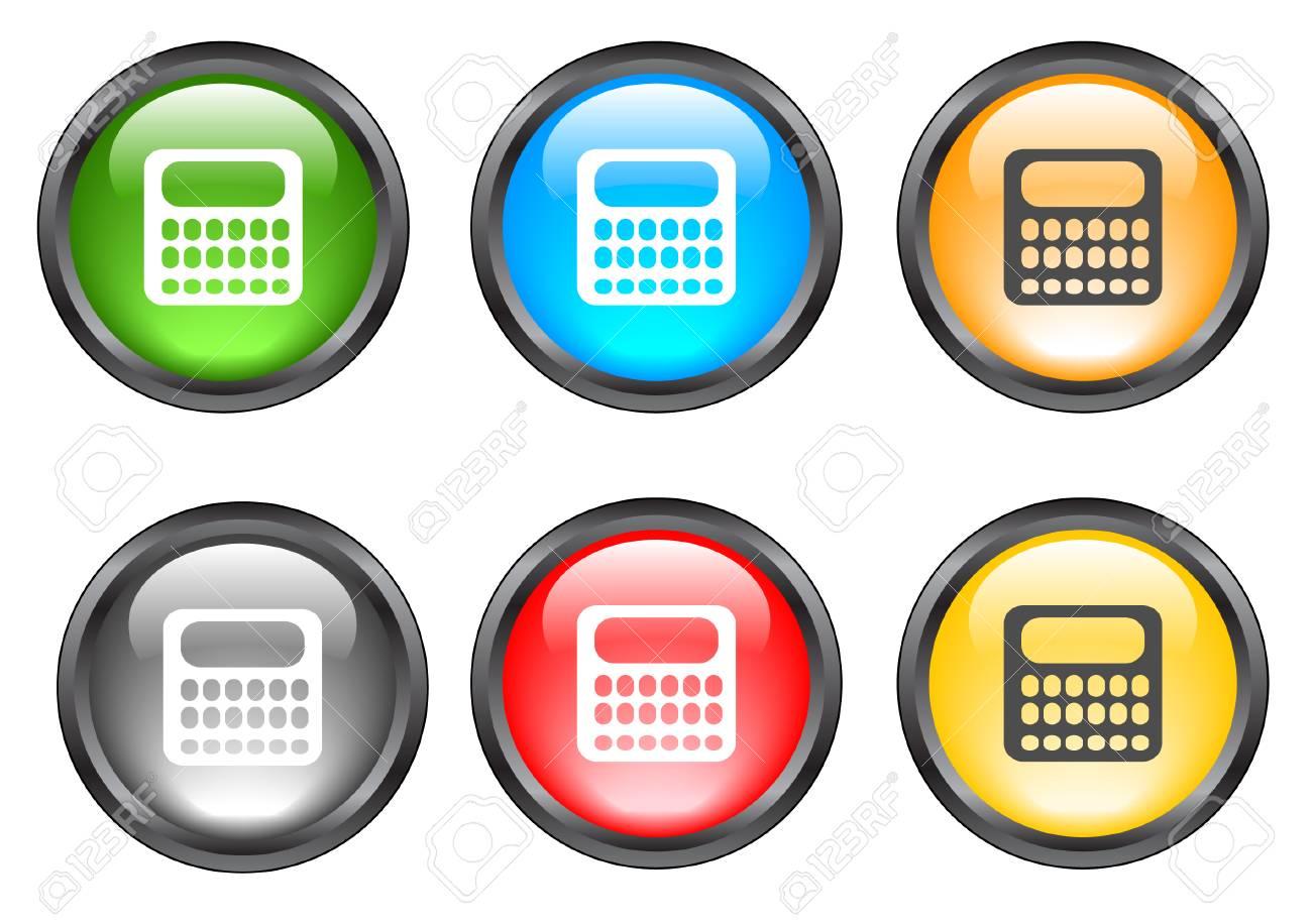 Internet shiny buttons. Vector illustration. Stock Vector - 5195503