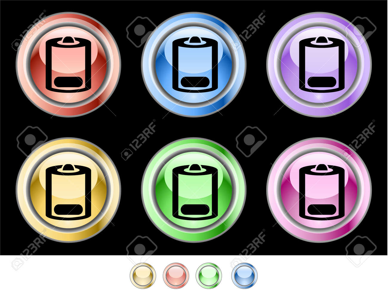 Web buttons Stock Vector - 5538953