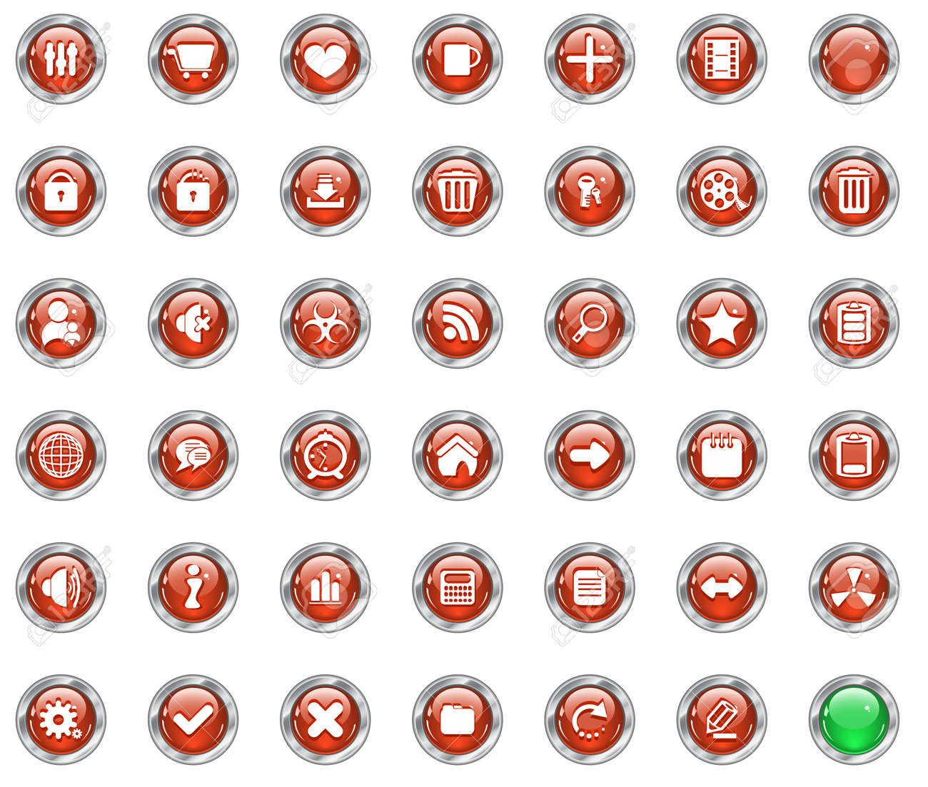 web buttons Stock Vector - 6641966