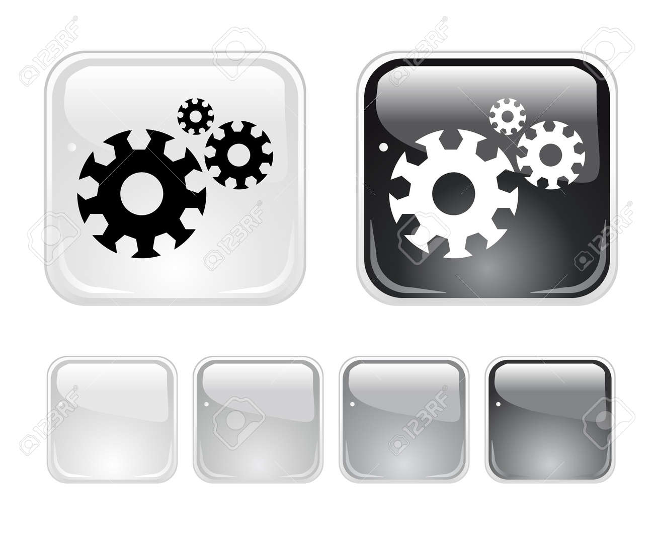 Buttons for web Stock Photo - 6945614