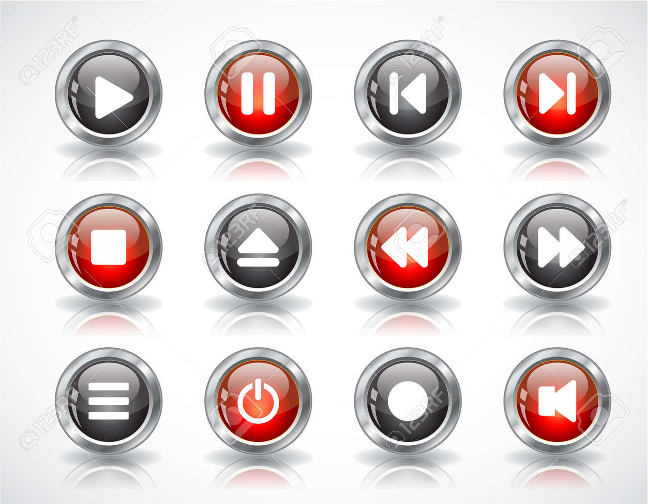 media buttons. Stock Photo - 7300570