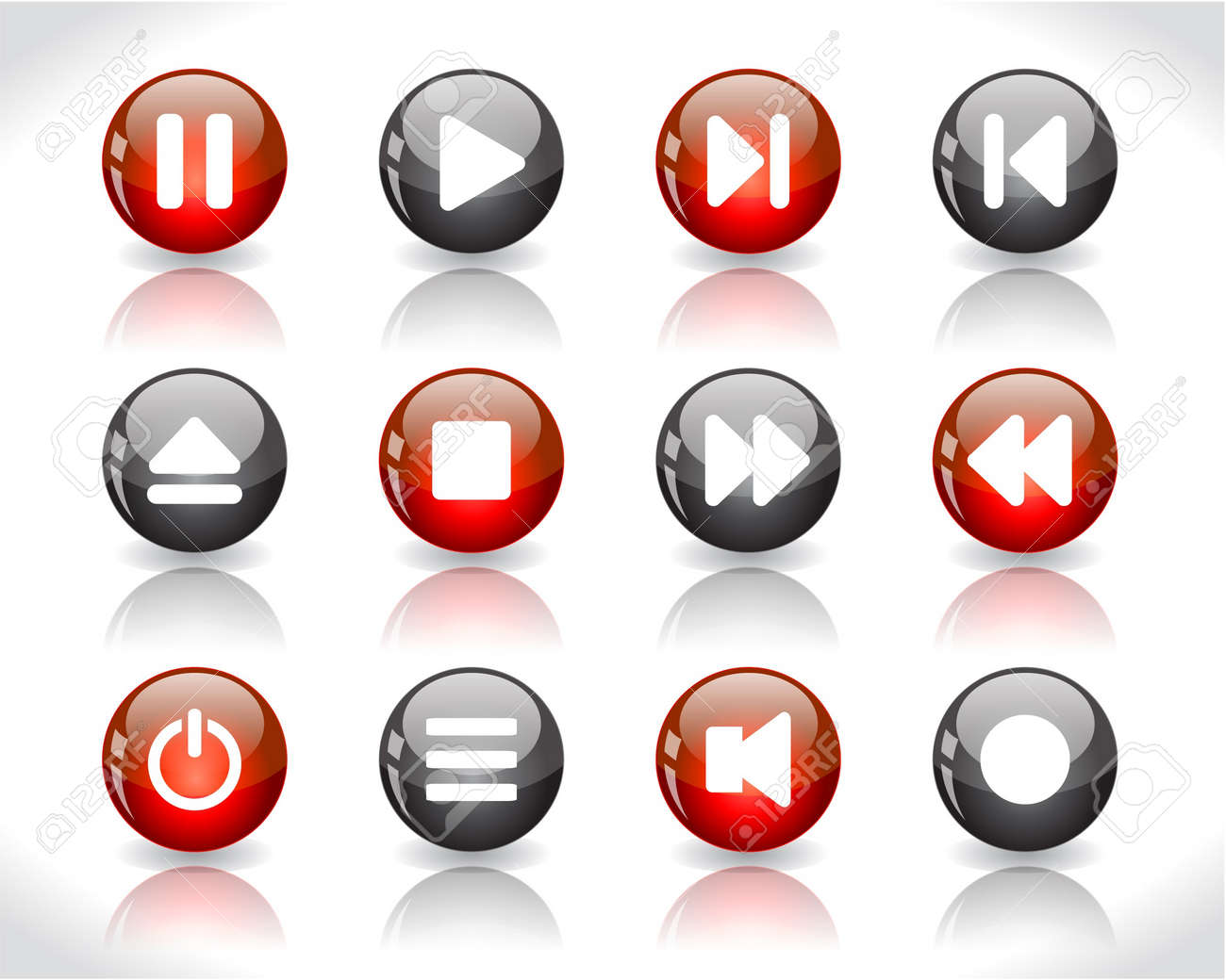 media buttons. Stock Photo - 7300374