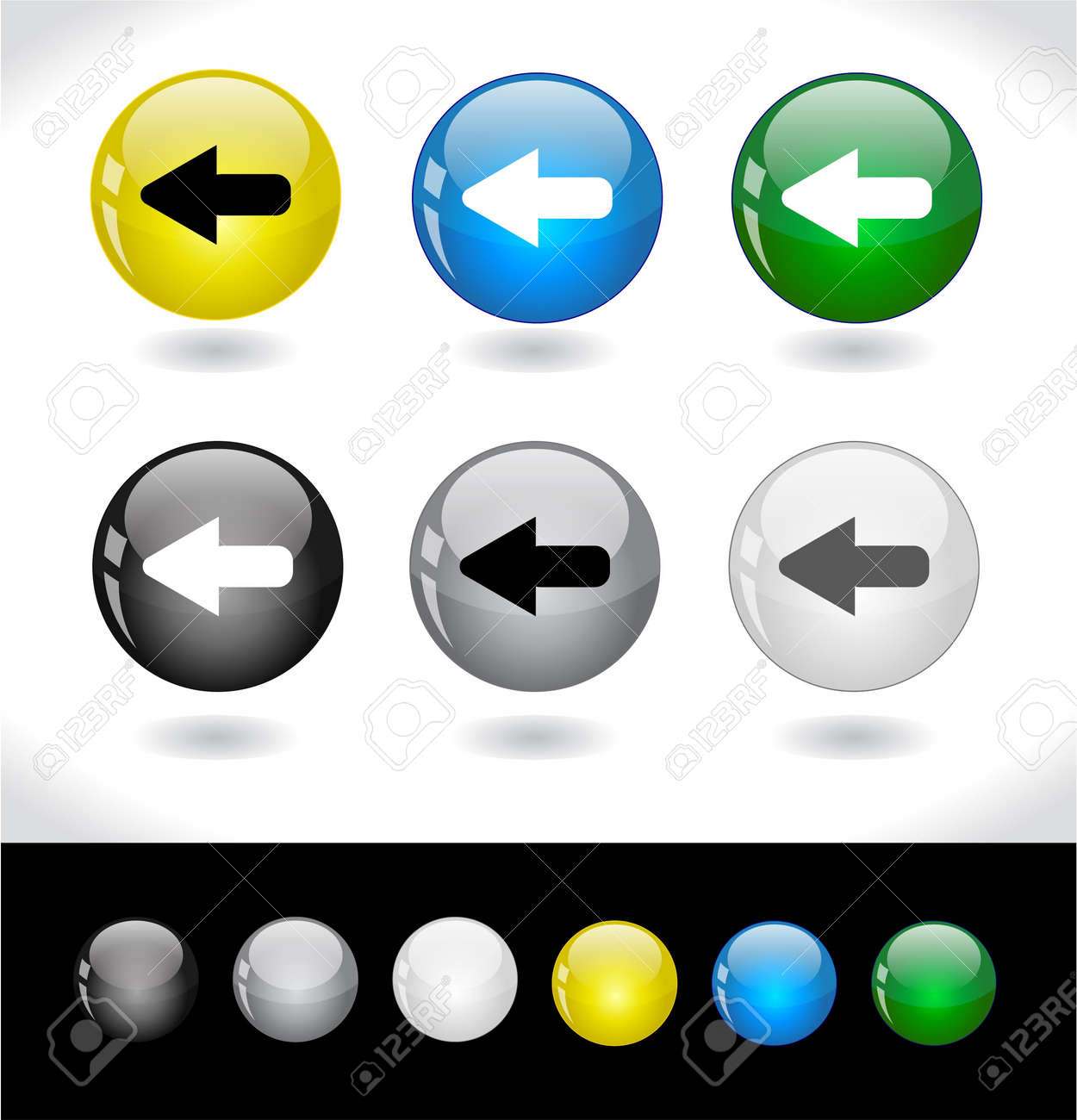 Buttons for web. Vector. Stock Photo - 7420807