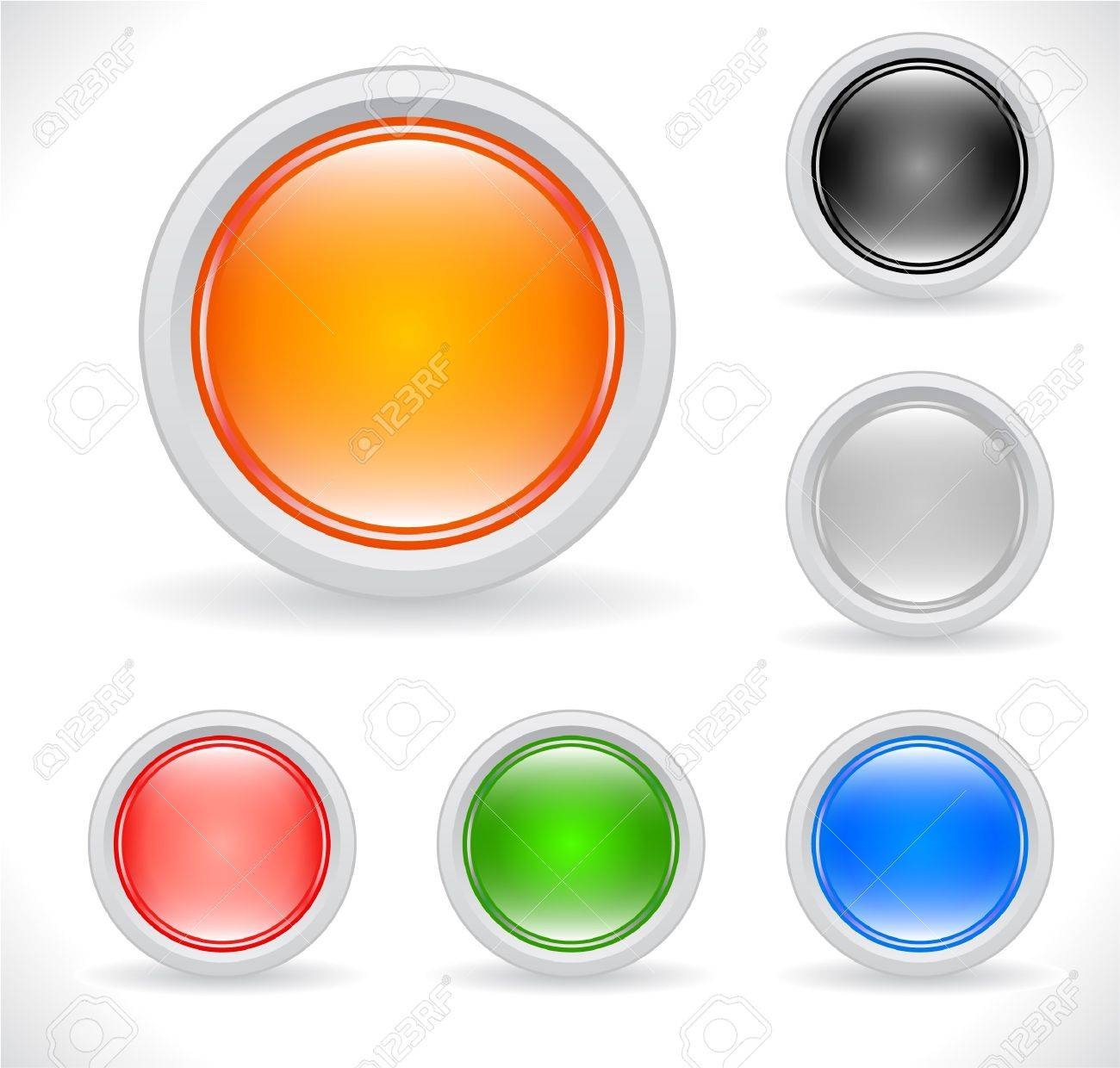 Buttons for web. Vector. Stock Photo - 7774951