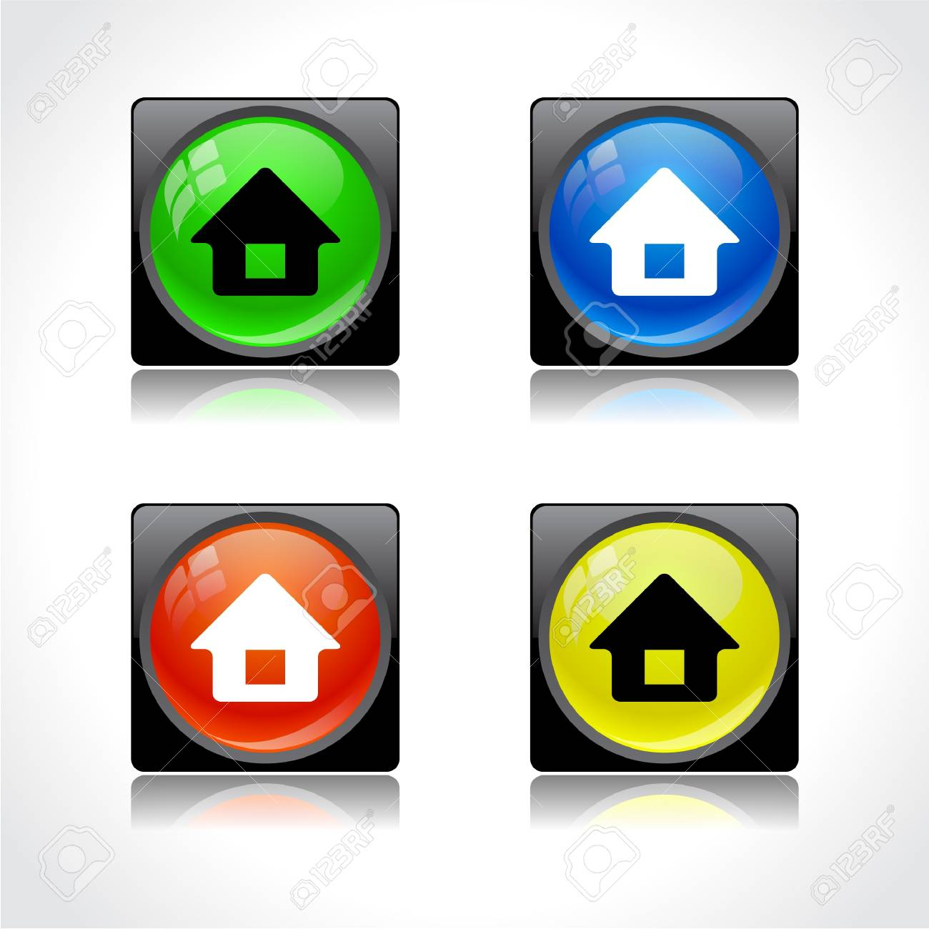 Buttons for web Stock Vector - 8624124