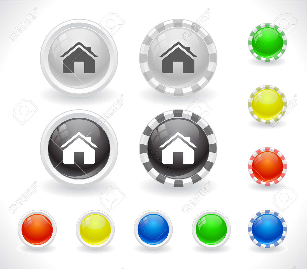 Buttons for web Stock Vector - 8624003