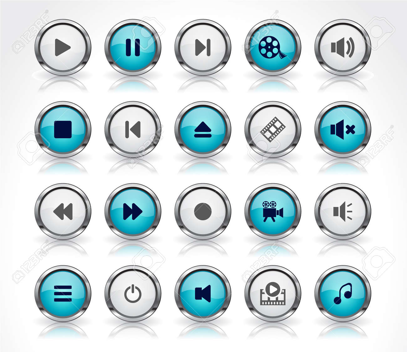 Buttons for web Stock Vector - 8720762