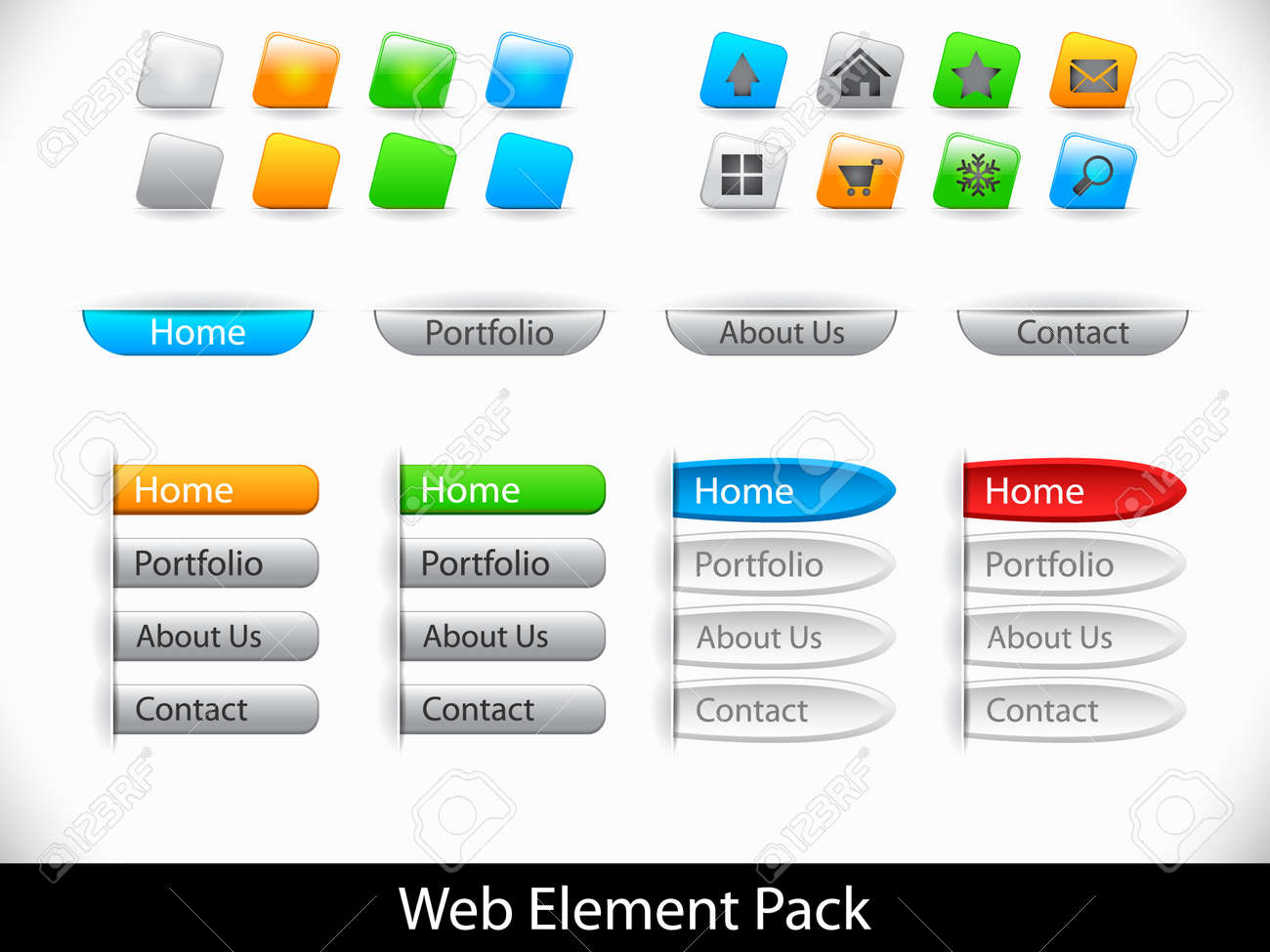 Set of elements for website Stock Vector - 9037363