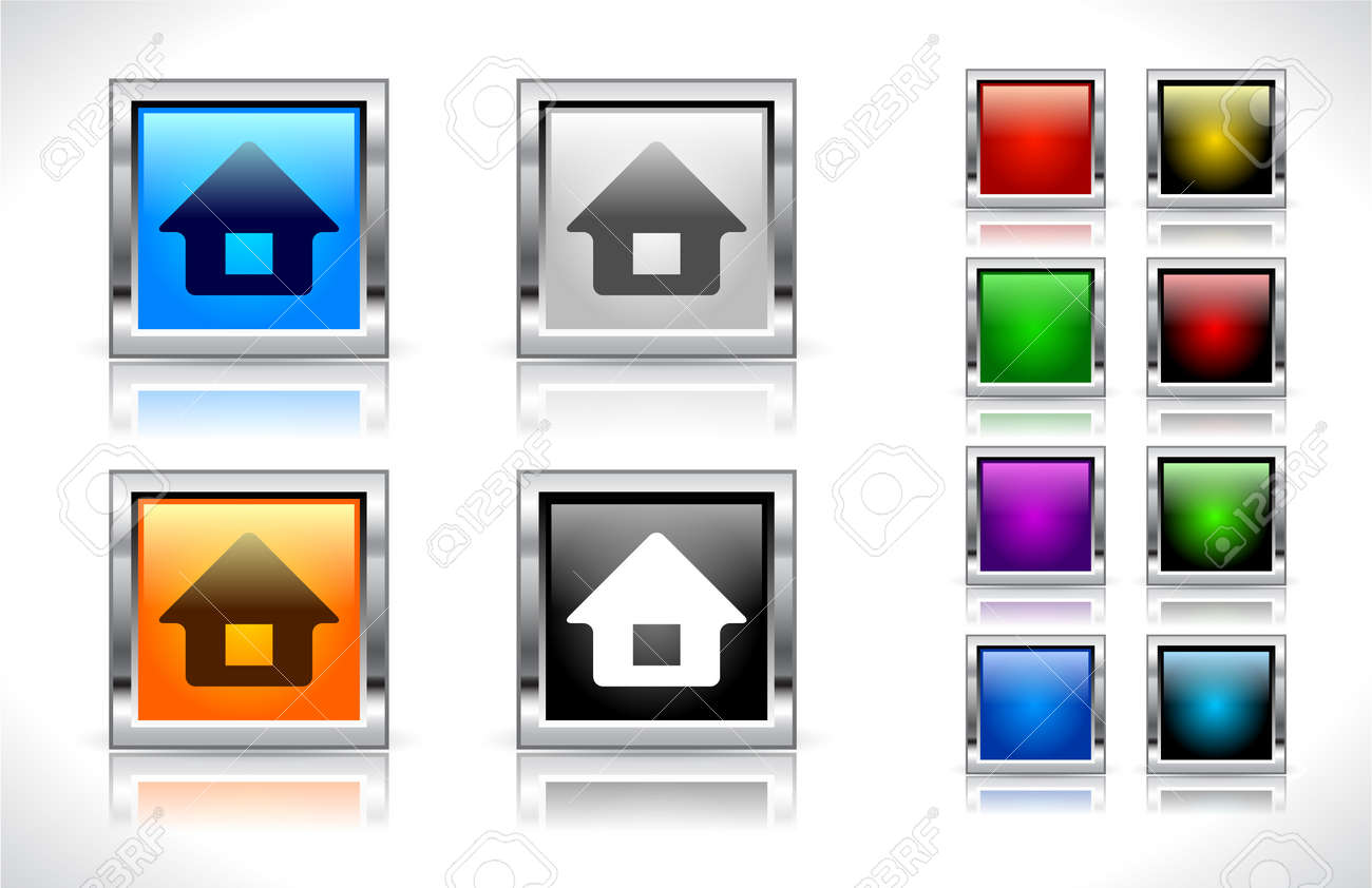 Buttons for web. Vector illustration. Stock Vector - 9107346