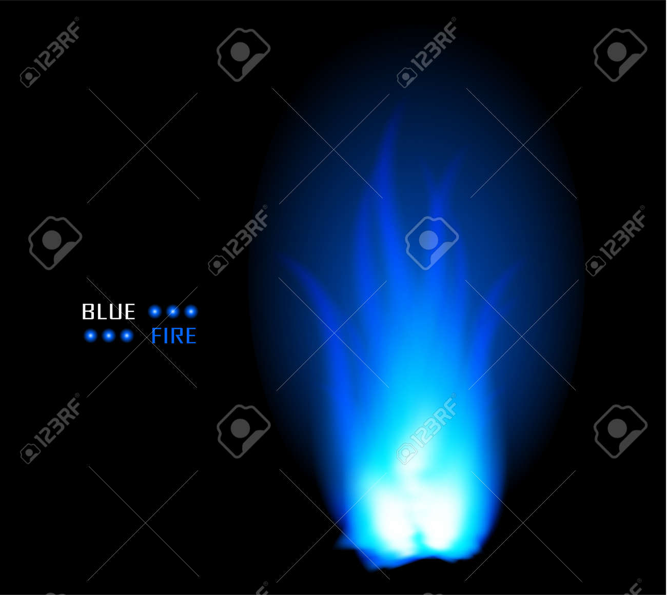 Blue fire ball flame burn vector background Stock Vector - 9713242